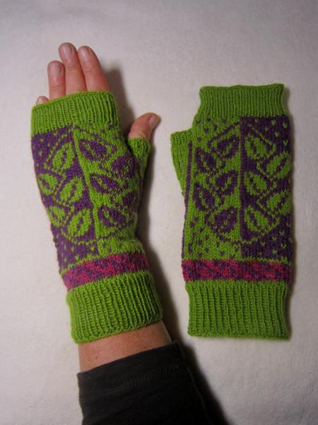 Fingerlose Handschuhe 'Blätter' Armstulpen Handschuhe Handschuhstulpe