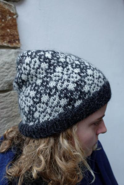 Beanie Strick-Mütze Alpaca Norweger Strickmütze