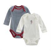 Baby-Body, langarm 2er Pack GOTS