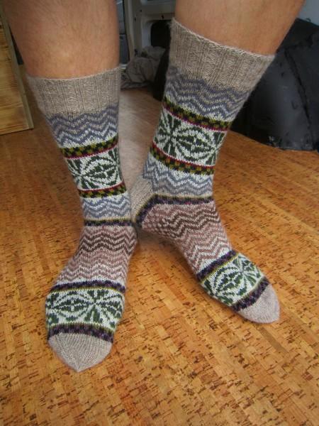 "Herren Socken Wollsocken "" Bruchstücke"""