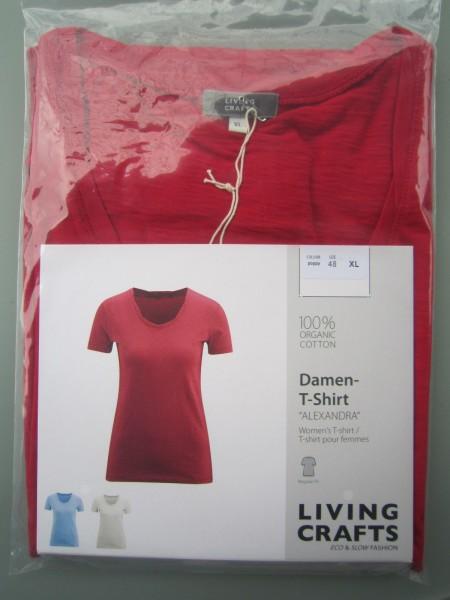Damen-T-Shirt Flammengarn GOTS