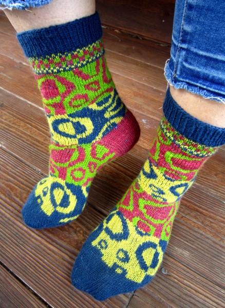 """Socken Wollsocken """"Kringelei"""""""
