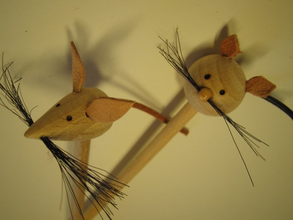"""Kinderstricknadel """"Katz und Maus"""""""