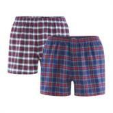 Herren Boxer-Shorts GOTS Doppelpack Flanell
