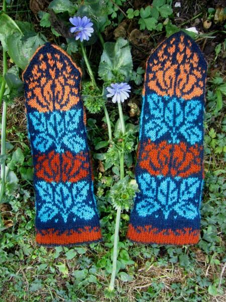 Fäustel Handschuhe 'Blumen'