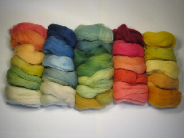 Märchenwolle Farbtonbeutel pflanzengefärbt 50g