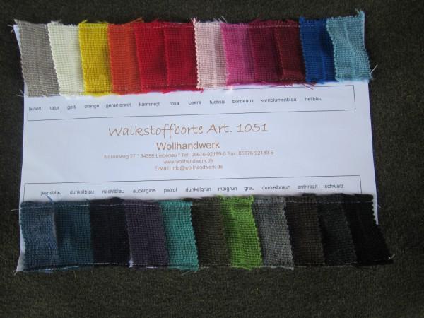 Musterkarte Walkstoffborte Walkstoff-Tresse Wolltresse