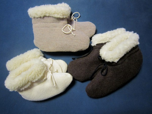 Bettschuhe Walk mit Wollflor gefüttert